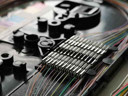 Glasfaser speißen Gerät Detailansicht