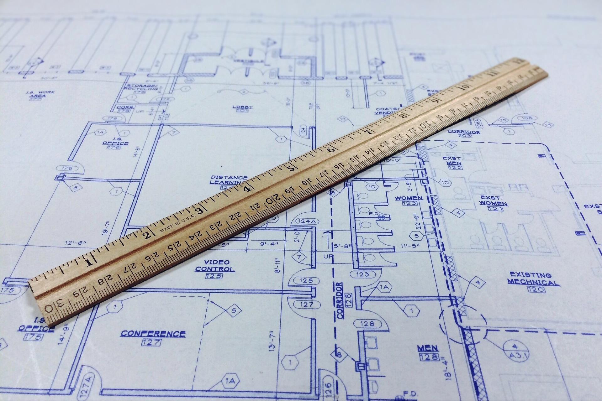 Balupause Zeichnung für technische Planung